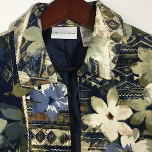 Alfred Dunner Amsterdam Ave Geo Floral Blazer